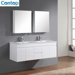 Wall Hung Double Basin Bathroom Vanity pictures & photos