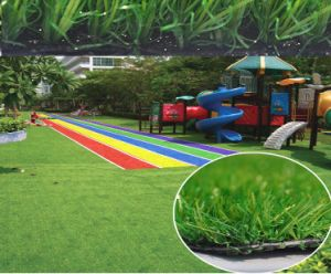 Colorful Artificial Turf for Kindergarten Playground pictures & photos