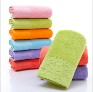 High Quality Promotional Face Towel 35X75cm 120g Plain Dyed pictures & photos