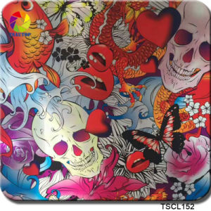 Tsautop New Arrival 1m Width Skull Flower Design PVA Hydro Dipping Water Transfer Printing Hydrographic Film Tscl152 pictures & photos