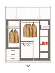 Customized Modern Bedroom Sliding Wardrobes (many colors) pictures & photos
