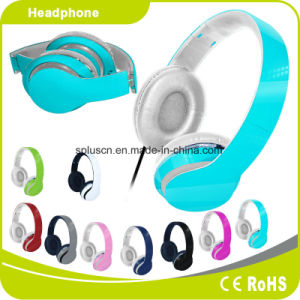 2017 New Hot Sale Light Blue Computer Headphone MP3 Headphone pictures & photos