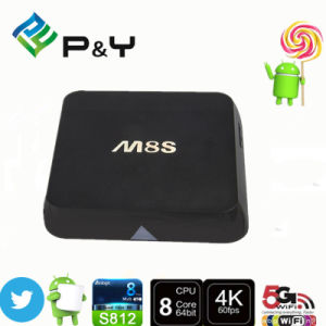 2g/8g M8s TV Box Android Dual Band 2.4G/5g WiFi Android 4.4 TV Box M8s Amlogic S812 pictures & photos