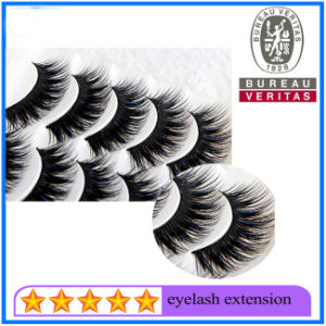 Free Shipping 3D Silk Lashes 100 Real Mink Fur Colorful Eyelash Extension Private Label pictures & photos