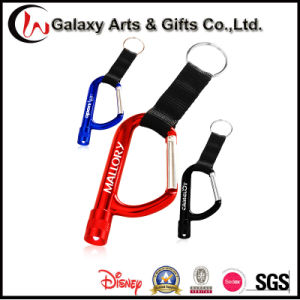 Laser/Screen Printing Climbing Hiking Aluminum Torch Keychain LED Carabiner pictures & photos