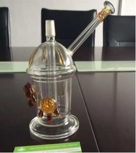 Honey Cup with One Pair of Tortoise Oil Rig Mini Glass Hookah Glass Water Pipe Starbuck Cup Glass Smoking Water Pipe pictures & photos
