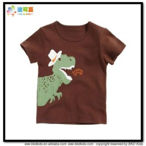 Dark Color Baby Clothes 100% Cotton Kids T-Shirts pictures & photos