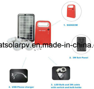 3W/9V Solar Lights, Solar Lighting Kit, Slar Home Lighting System pictures & photos