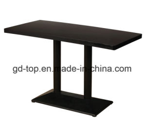 Stainless Steel Base Restaurant Table pictures & photos