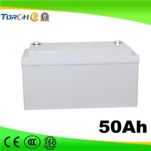12V AGM Long Life 50ah Gel Battery for Solar Street Light System pictures & photos