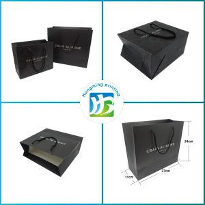 Custom Design Matte Black Jewelry Paper Bag pictures & photos