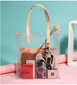 Sling Bag PVC Cosmetic Promotional Package Gift Bags Transparent Plastic Bags pictures & photos