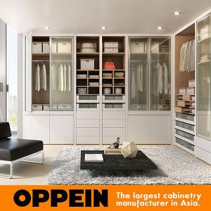 Modern Beige Matte Lacquer White Walk-in Wardrobe (YG91555) pictures & photos