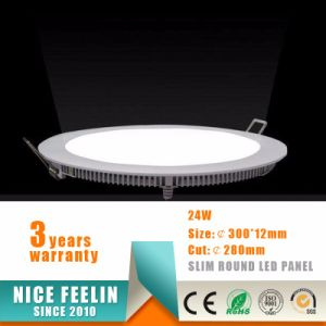 Top Quality 24W Ultra Slim Round LED Panel Light pictures & photos
