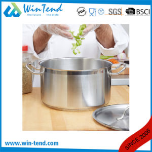 05 Style Stainless Steel Kitchen Equipment Steamer Induction Stock Pot with Sandwich Bottom pictures & photos