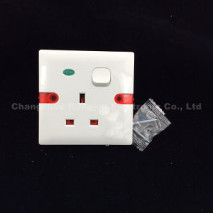 ABS 1 Gang 13A Switch Socket with Neon (WS6336SL) pictures & photos