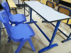 School Desk for Two People Classroom Desk Furniture pictures & photos
