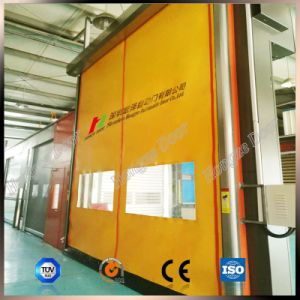 Auto-Recovery High Performance Rapid Roll High Speed Stacking Door (Hz-FC065) pictures & photos