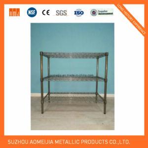 Hot Sale Metal Chrome Wire Flowers Shelf for Tajikistan pictures & photos