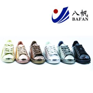 2017 Shiny Girl′s Canvas Casual Flat Shoes (BF-B053) pictures & photos