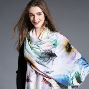 Digital Printing, Woolen Scarf for Women