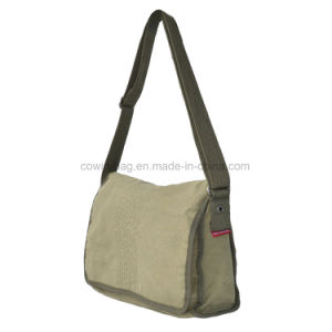 Vintage Cotton Canvas Made High Quality Military Crossbody Messenger Bag pictures & photos