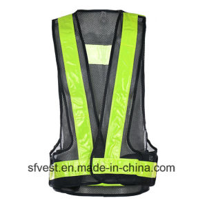 Road Safety Warning High Visibility LED Jackets Reflective Vest Battery Powered LED Waistcoat Nylon Mesh