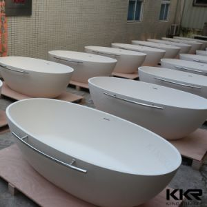 Kingkonree Artificial Stone Acrylic Solid Surface Bathtub and Shower pictures & photos