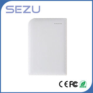 High Capacity 10000mAh White Leather Texture Notebook Power Bank with Data Cable Hot Sell! pictures & photos