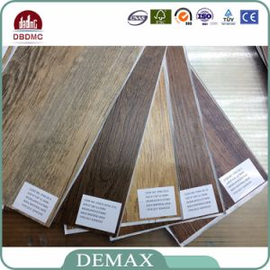 5mm Thick Simple Color Surface Click Lock Vinyl Plank Flooring pictures & photos