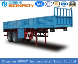 2 Axle Fence Semi-Trailer with Side Wall pictures & photos