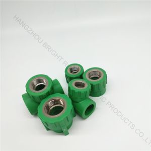 Hight Quality Injection Plastic Tee Joint with Screw Thread Customized pictures & photos