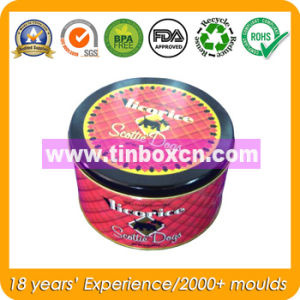 Round Tin Cookie Can with Food Grade, Biscuit Tin Box pictures & photos