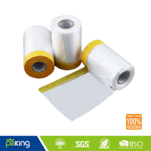 550mm Paintable PE Plastic Film with Masking Tape pictures & photos