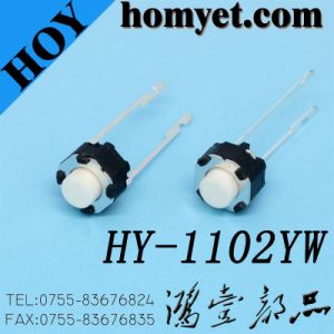 Two Long Foot Circular Tactile Switch with White Push Button pictures & photos