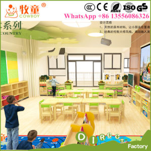 Kids Wooden Desk and Chairs Sets, Wood Nursery Classroom Furniture for Wholesale pictures & photos