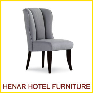 Modern Restaurant Furniture Grey Fabric Wooden Construction Dining Room Chair pictures & photos