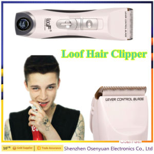 Rechargeable Professional Hair Clipper with LED Displayer pictures & photos