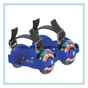 Ce Approval Two-Wheel Adjustable Flashing Roller Skate Shoes with LED Wheels pictures & photos