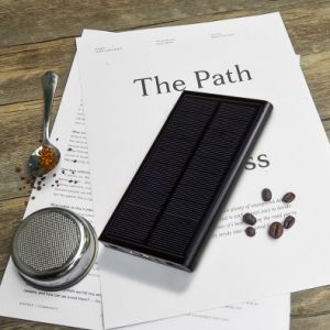 20000mAh Universal Dual USB Solar Charger Ultra Slim Laptop Power Bank Portable External Battery Solar Power Bank Free Logo Offered pictures & photos