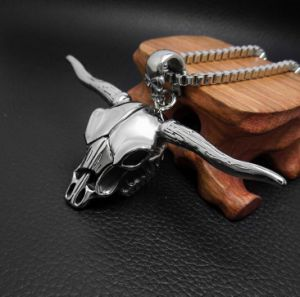Personality Ox Men Necklace Pendant Fashion Jewelry 316L Stainless Steel pictures & photos