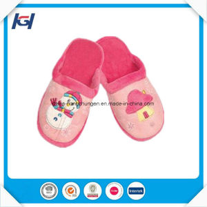 Wholesale Custom Embroidered Kids Sleeping Indoor Slippers pictures & photos