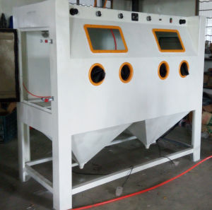 Double Station Sandblast Cabinets pictures & photos