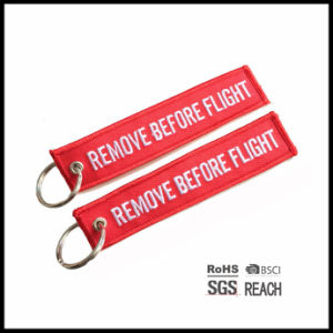 Remove Before Flight Colored Short Strap Carabiner Key Chain Strap pictures & photos