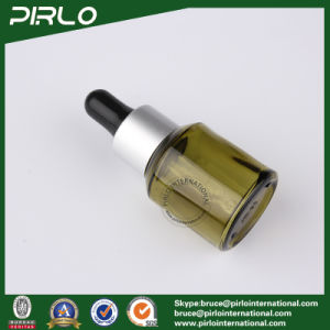 15ml 0.5oz Olive Green Glass Dropper Bottle with Metal Ring pictures & photos