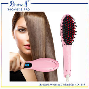 Hair Straightener with Brush No Hair Damage LCD Digital Hair Straightener Comb pictures & photos