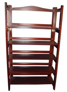5 Layers Dark Brown Solid Wood Kitchen Rack pictures & photos