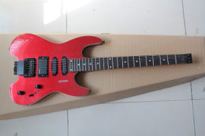 Hanhai Music/Unusual Shape Red Electric Guitar with No Headstock (STEINBERGER Style) pictures & photos