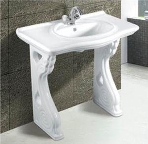 Hot Sale Modern Bathroom Ceramic Pedestal Basin