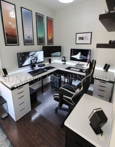 Home Study Room Furniture Gaming Desk LED Computer Desk (SZ-ODE08) pictures & photos